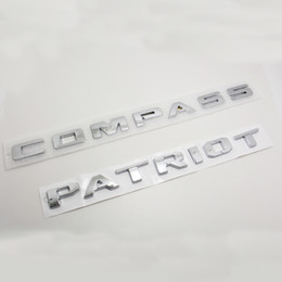 Wholesale Plastic Fender - Car Styling 3D ABS Compass Patriot Fender Tail Trunk Door Badge Logo Brand Emblem Sticker For JEEP Emblem Sticker