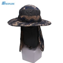 1ddd9fd38a5 Wholesale-Goexplore Outdoor Sport Hiking Hat UV Protection Face Neck Cover  Fishing hunting camping Camouflage 360 degree Sun Protcet Cap