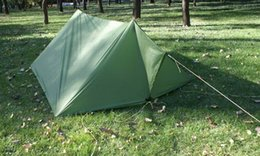 Wholesale Free Shelter - DHL free shipping 210T with silver coating 3F UL GEAR tent tarp army green sun shelter