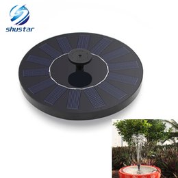 Wholesale pond tanks - Led Solar Water Pump Pro-environment Underwater Fountain For Garden Landscape Pond Reservoir Round Pool Fish Tank