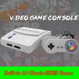 Wholesale Video Player Hdmi - Real SNES 64 Game Consoles 16 Bit Super NES Mini TV Video Handheld Retro Player Classic Games Console With Retail Box for Sega HDMI Xbox