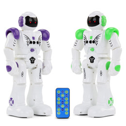 Wholesale kids robots - RC Intelligent Robot Remote Control Smart Programmable Robots Walk Slide Dance Music Talk Demostration Interactive Robot Toys