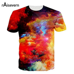 2019 galaxy space t shirt men Raisevern 3D Galaxy Espace T-shirt Nebula Print Tshirt Hommes / Femmes Unisexe Summer Tops T-shirts Casual Plus La Taille S-3XL Dropship promotion galaxy space t shirt men