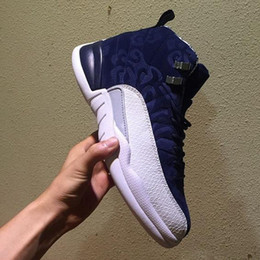 ff8483bc33c5 cheap 12 Michigan men basketball Shoes International Flight College Navy  taxi white black gym Red Flu Game gamma blue trainer Sports sneaker