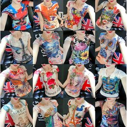 Wholesale womens browning t shirts - 16 Design Novelty Womens Fashion Summer Cotton Prints Short Sleeve O-Neck T-shirt Casual Tops Slim Fit for Ladies Designer Clothing