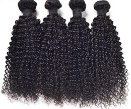 Wholesale Bleached Curly Weave - Liang Shuang Brazilian Curly Hair 3 Bundles 8A 100% Unprocessed Virgin Human Hair Weave Weft Natural Color 95-100g pc Can Be Dye