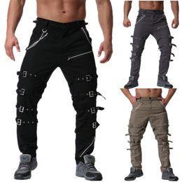 Cargo Pants Men Solid Color Criss Cross Lace Up Baggy Sweatpants Medieval Vikingtrousers Pants