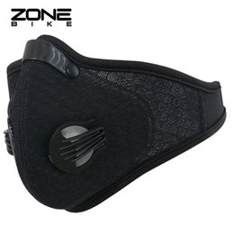 Wholesale Bike Mask Pollution - ZONEBIKE Nylon Bike Mask Filter Cycling Facemask Anti-pollution Bicycle Half Face Shield Breathable Dustproof Maske