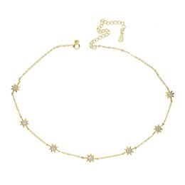 charms solitaire Promo Codes - Guarantee 925 sterling silver jewelry high quality cute sun charm link chain choker collarbone women elegance necklace