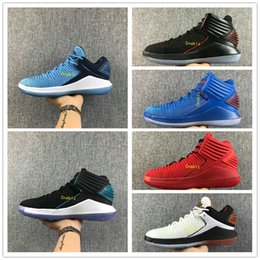 Wholesale Cracks Shoes - 2018 32 Basketball Shoes Low Mens Mike 32s XXXII Black 32s Hornets Black Crack Mens Sports Sneakers Size 40-46