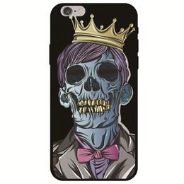 Canada Soft Tpu Case Noir Zombie Skeleton Crâne Peinture Couverture Arrière pour iPhone X 2018 Nouveau iPhone 6.1 pouces 6.5 XS 9 8 plus 7 Samsung Galaxy S8 S9 Offre