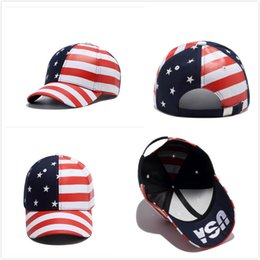 bandiere fredde Sconti American Flags Sunshade Caps Independence Day Accessori Teenager Hiphop Tappi Street Dance Cool Hats Summer Ombrelli Cappelli