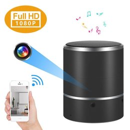 Wholesale Bluetooth Spy Camera Hd - Hidden Camera 1080P WIFI HD Spy Cam Bluetooth Speakers Wireless Mini Camera Rotate 180° Video Recorder Motion Detection Real-Time View Nanny