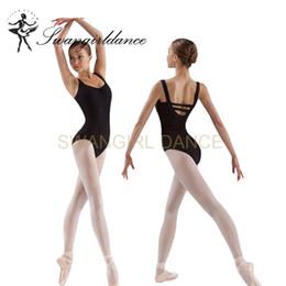 Wholesale Gymnastic Costumes - Hot Sale Black Sexy Cotton Gymnastics Ballet Loetard For Women Adult Blue Dancing Costume Dancewear CS0109