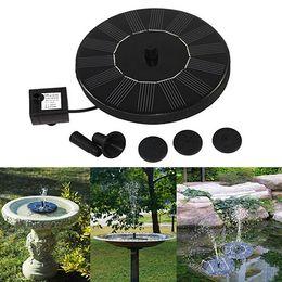 Wholesale Pool Decor - Solar Power Birdbath Water Floating Fountain Pump Pool Garden Outdoor Decor
