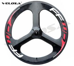 Wholesale Bike Carbon Time - FFWD HED Full carbon Tri spoke 3 spoke carbon wheel,70mm clincher for road Track Triathlon Time Trial Bike 3 spoke Wheel