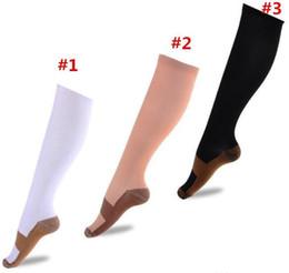 Wholesale Running Compression Socks - Copper Compression Socks Anti Fatigue Compression Stockings Socks Unisex Sports Running Magic Stretch Compression Socks