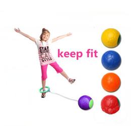 aperto tático m4 Desconto Engraçado um pé pular bola salto bola pé hula hoop pulando corda quicando bola brinquedo educacional ao ar livre brinquedo crianças exerciae presente