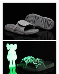 Wholesale Hotel Cool - With box 4s x Hydro 4 Cool Grey slippers sandals Hydro Slides basketball shoes sneakers Glow size 7-12
