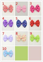 Wholesale tiara miss - 10pcs headband Clip drill Multicolor bowknot Mini headbands girl hair accessories miss the hair beautiful newborn floral FJ024
