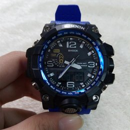 Wholesale boys wristwatch led - New Shock Watch GWG Men's Sports Watches Anlog LED Outdoor Waterpoof Wristwatch military watch good gift for men & boy 1000