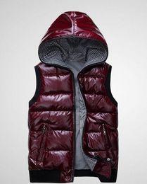 Chaleco de otoño e invierno de mujer 2015 nuevo delgado con capucha de algodón de moda modelos femeninos brillantes abajo chaleco chaleco DF-227 desde fabricantes