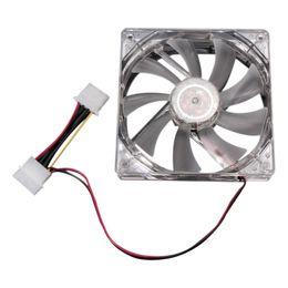 Computer-stromversorgung ventilatoren online-Freeshipping 5pcs LED beleuchtet Computerstromversorgungs-Chassis CPU-Ventilator 4 Farben