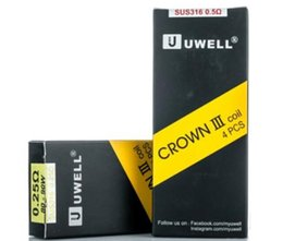 Wholesale Free Crowns - Uwell Crown 3 Coil Head Replacement Crown III Tank Coils 0.25ohm 0.5ohm SUS316L DHL Free
