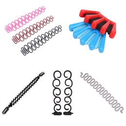 Wholesale french weaving - 9 Types Lady Fashion French Hair Braiding Fish Bond Weave Braid Roller with Hair Twist Styling Bun Maker DIY Band Tools