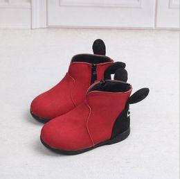 girls 13 boot UK - Children's girls boots cute Cartoon girls snow boots 13-18CM new children's shoes autumn winter warm children's Low tube cotton boots
