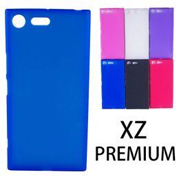 Empreintes digitales en plastique en Ligne-plastique mat tpu pour sony xz premium arrière cas de couverture à l'épreuve des empreintes digitales 1.2mm