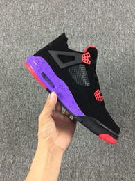 3cf965babcd 2018 Dernières 4 IV Raptors Chaussures Basket-ball Shoes 4s Black  University RedCourt Purple Outdoor