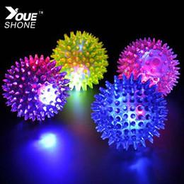 Wholesale Led Elastic Ball - Wholesale-Kids Children Light-up Toys Color-changing Elastic ball massage ball Lamp Lovely Cartoon Night LED Lights