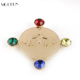 Wholesale costume sailor moon - MQCHUN Christmas Party Accessories Brooch Pins For Girl Women Sailor Moon Brooches Sakura Costume Cosplay Bijoux Xmas Gift