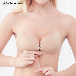 07fa7d59ea Women  S Super Push Up Invisible Bra Sexy Bralette Soutien Gorge Backless  Silicone Strapless Fly Bra For Women Wedding Sujetador