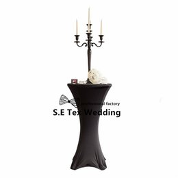Wholesale Table Covers Cheap Wholesale - Cheap Price Cocktail Table Cover \ Lycra Spandex Table Cloth For Wedding Event Decoration