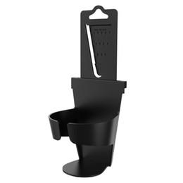 Wholesale wholesale mini watering cans - VODOOL Portable Car Cup Water Bottle Can Holder Mount Rack Car Headrest Door Window Gap Channels Mini Drink Holder Bracket Stand