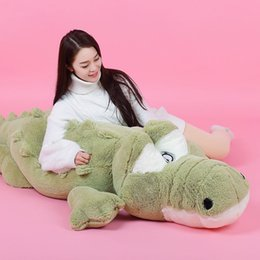 green day dolls Coupons - Dorimytrader Cute Soft Animal Crocodile Plush Pillow Doll Large Cartoon Alligator Toy Kids Play Doll Gift 160cm 200cm DY50114