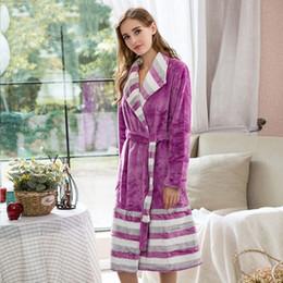 44c91326c 2019 camisolas de inverno das senhoras Sleepwear Robe Mulheres Coral Fleece Pijamas  Quente Macio Casa Robes