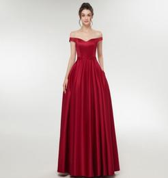 Реальные фото элегантный V-образным вырезом с плеча-Line пользовательские длинные бордовый платья невесты плюс размер длина пола макси платье для свадьбы от