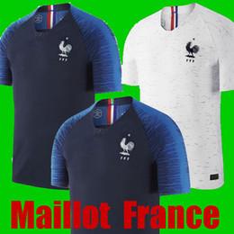 Wholesale France Soccer Jerseys - Thaialnd GRIZEMANN POGBA France soccer jersey 2018 2019 World Cup jersey Mbappe DEMBELE 18 19 Maillot de foot Camisetas football kit shirts