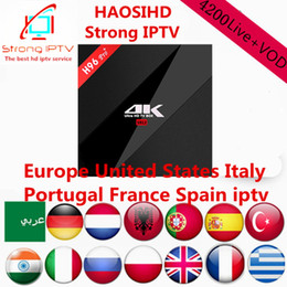 Wholesale channel movies - smart android box H96Pro+ 3G32G Amlogic S912 with iptv subscription 1 year 4200 channels,Arabic,Europe,USA iptv with Movie, news and vod