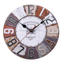 b42a20a30dd 2019 relógio pendurado Relógio de Parede de madeira Estilo Retro Home Decor  para Sala de estar. 5