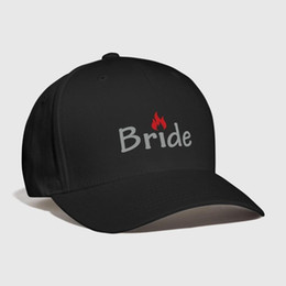 just hats Promo Codes - Hot Bride Embroidery Customized Handmade Bride to be Engaged Honeymoon Newlyweds bachelorette just married party Curved Dad hat