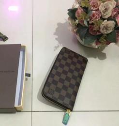 Wholesale Hot Single Ladies - Hot! wholesale 2016 famous brand fashion single zipper cheap luxury designer women pu leather wallet lady ladies long purse