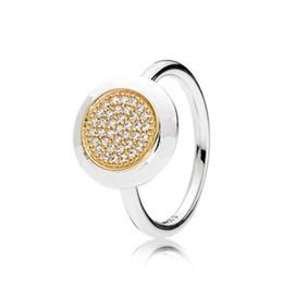 Anello di cristallo pieno per le donne con LOGO Zircon Adatto pandora argento oro taglia 6-9 Moda Festivel Regali di compleanno R001 da