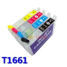 Chip de reinicio de impresora online-T166 Cartuchos de tinta recargables para Epson Expression ME-101 ME-10 Tinta de impresora con reinicio y chip permanente