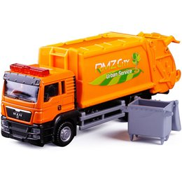 Wholesale Garbage Bins - Rmz 1 :64 Garbage Truck Model Alloy Car Toy Sanitation Truck Garbage Bin Children 'S Favorite Toys Holiday Gift Toy Vehicles Kids