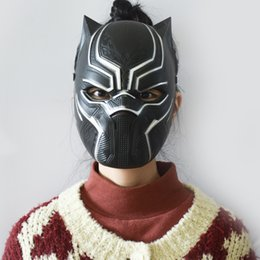 Wholesale fashion show clothing - Horror Mask Fashion Cosplay Halloween Masquerade Party Panther Helmet Face Masks Makeup Show Originality Clothing Decoration 4 5yk UU