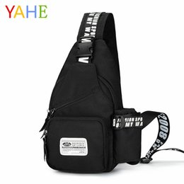YaHe New Casual Mens Shoulder Bags Male Solid Printing Travel Strap Back  Pack Men Chest Pack Sling Crossbody Bags For Men 2018 64dc8dab2499a